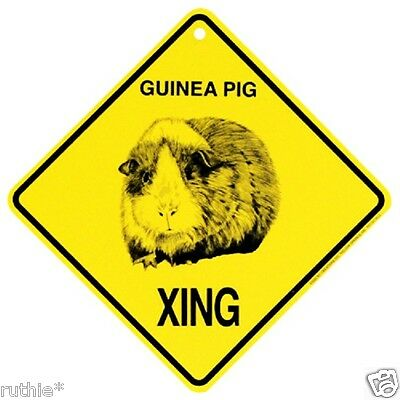Guinea Pig Crossing Xing Sign New