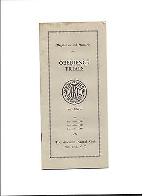 1956 AKC Regulations and Standards for Obedience Trials