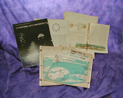 VINTAGE EXPO 67 1967 CANADA MONTREAL WORLDs FAIR 3 MAGAZINE ARTICLES