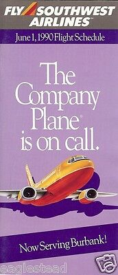 Airline Timetable - Southwest - 01/06/90