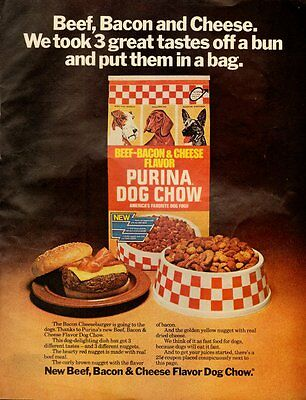 1976 Vintage ad for Purina Cog Chow/Beef-Bacon & Cheese/Dog Food (060713)