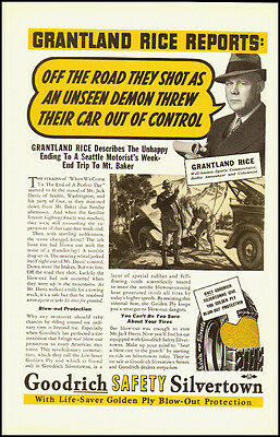 1937 Vintage ad for Goodrich Safety Silvertown Tires    (032212)