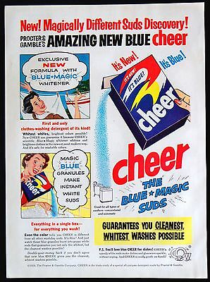 1953 Cheer Clothes Laundry Detergent Soap Magazine Ad