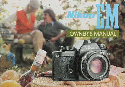 167011 NIKON EM CAMERA ORIGINAL INSTRUCTION MANUAL