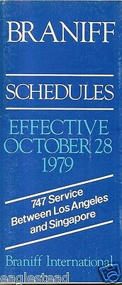 Airline Timetable - Braniff - 28/10/79