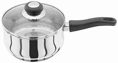 Judge Vista Pan Stainless Steel Saucepan With Glass Lid 25 Year Guarantee