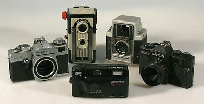 Imperial Reflex, Bell Howell Electric Eye 127,praktica And 2 Point Shoots Camers