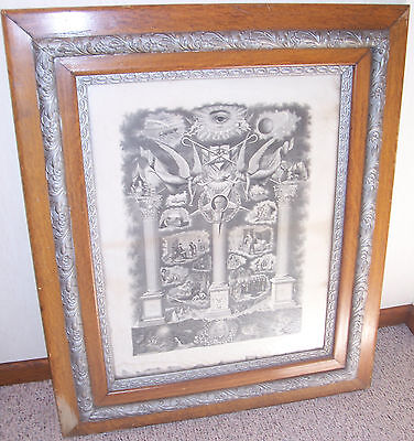 Independent Order of Odd Fellows Rock of Odd Fellowship IOOF Lithograph Print