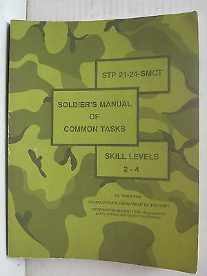 October 1992 Soldier's Manual of Common Tasks Department of Army