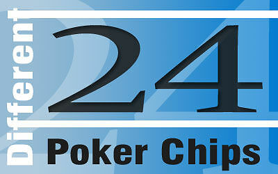 24 Poker Chips for Collectors and Displays Lot 10