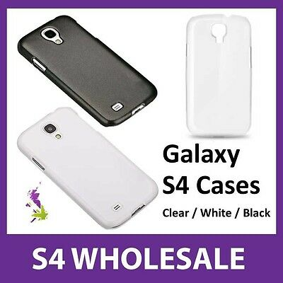 10x Samsung Galaxy S4 Cases Wholesale - White, Black, Clear, Mix & Match - NEW