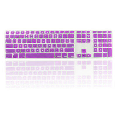 Purple Ultra Thin silicone keyboard cover with a numeric keypad for Apple iMac