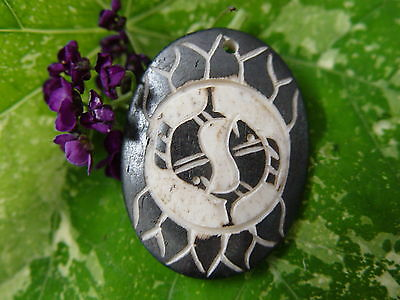 GOOD CHI BONE CHARM J Wicca Witch Pagan Spell Goth OM New Age YOGA BUDDHA AUM