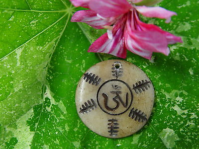 GOOD CHI BONE CHARM K Wicca Witch Pagan Spell Goth OM New Age YOGA BUDDHA AUM