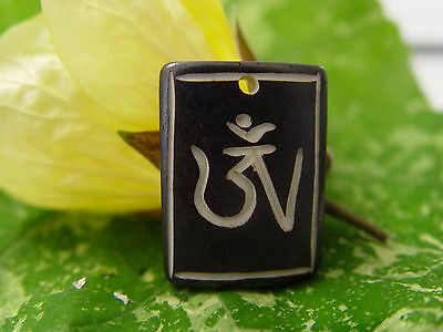 GOOD CHI BONE CHARM ZB Wicca Witch Pagan Spell Goth OM New Age YOGA BUDDHA AUM