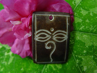 GOOD CHI BONE CHARM ZN Wicca Witch Pagan Spell Goth OM New Age YOGA BUDDHA AUM