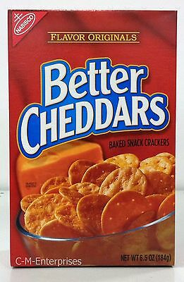 Nabisco Better Cheddars Baked Snack Crackers 6.5 oz
