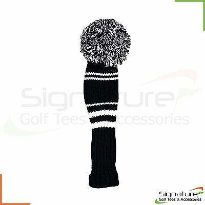 Premium Knitted Pom Pom Golf Club Headcover - Individual or Set of 3