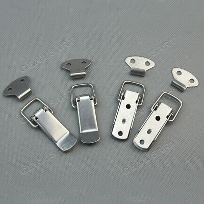 4 Set Stainless Spring Loaded Toggle Case Box Chest Trunk Latch Catch Clamp Clip