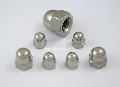 10pcs DIN1587 M5 304 Stainless Steel Acorn Nut Hex Head Cap Nut Dome Cover Nut