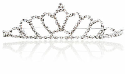 Sparkling Crystal Prom Pageant Jewelry Queen Crown Hallows Bridal Wedding Tiara