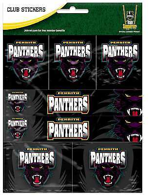 Penrith Panthers NRL Team Logo Sticker Sheet * 7 Stickers Per Sheet