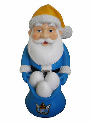 Gold Coast Titans NRL Christmas Santa Gnome with Footballs in a Santa Sack