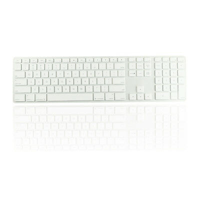 Clear Ultra Thin silicone keyboard cover with a numeric keypad for Apple iMac