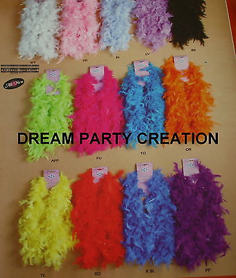Large FEATHERS BOA Craft Decoration 40 grams - 2 YARDS CHOOSE From 13 COLORS