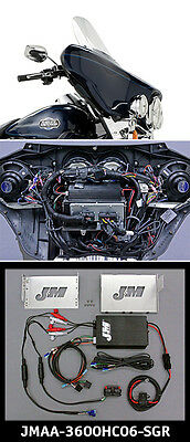 J&M Performance Series 360w Amp Kit for Harley StreetGlide w/Rear Speaker 06-13