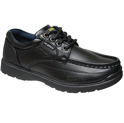 New Boys Black School Shoes Kids Lace Up Trainers School Shoes Boots Sizes 1-6