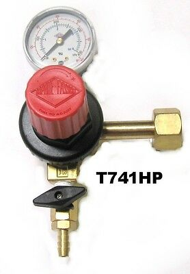 PREMIUM -Single Gauge Co2 Regulator - T741HP -