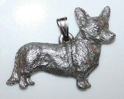 Cardigan Welsh CORGI Dog Harris Fine Pewter Pendant USA Made