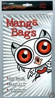 """(100) Ultra Pro Reader's Digest / Manga Bags 6"""" x 7 5/8"""" 100% Archival Safe Poly"""
