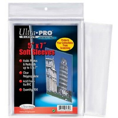 1000 Ultra Pro 5 x 7 Postcard Photo Sleeves Holder Bag - 10 Packs 5x7