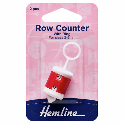 Hemline 2 - 6mm Knitting Row Counter With Ring