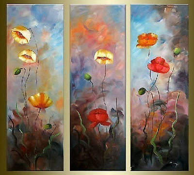 New Modern Abstract Huge Oil Painting Canvas beautiful flower(No Framed)