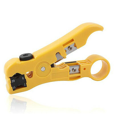 Universal Stripping Tool RG 59 / 6 / 7 /11 Coax Coaxial Cable Cord Wire Stripper