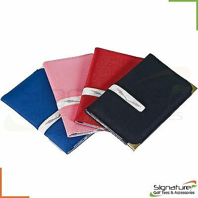 Deluxe Golf Scorecard Holder - Great Golf Gift - Various Colours **FREE UK P+P**