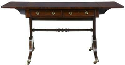 Regency Early 19Th Century Brass Inlaid Rosewood Sofa Table