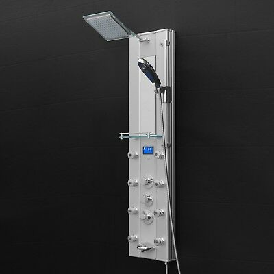 New Bathroom Aluminum Shower Tub Spout & Thermostatic Control Shower Panel