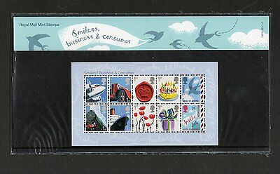 GB 2010 Presentation Pack Business and Consumer Smilers stamps
