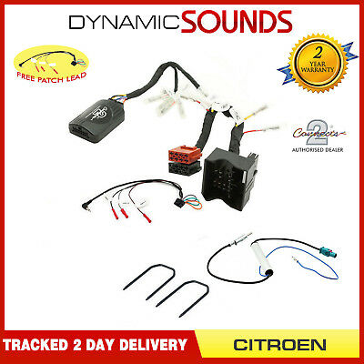 Steering Stalk Control CANBUS Adaptor Harness Kit & Aerial For Citroen C2 2005>