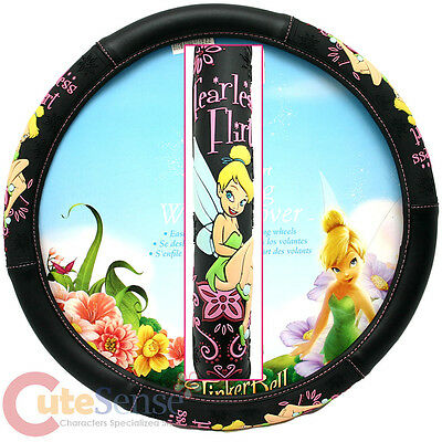 Disney Tinkerbell Car Steering Wheel Cover - Fearless Flirt  Tink Auto Accessory