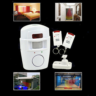 Home Security System Wireless IR Infrared  Remote Motion Sensor Detector Alarm