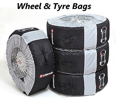 """New RICHBROOK ALLOY WHEEL & TYRE BAGS LARGE SIZE SET OF 4  Fits 19""""-22"""" Wheels"""