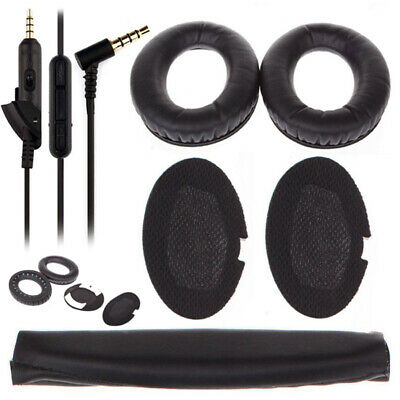 Replacement Ear Pads Cushion+Audio Cable+Cover for Bose QC15 QC25 QC35 Headphone