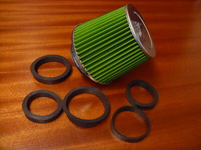 Cone Air Filter Induction Kit Green Universal Adaptors 90 80 75 70 65 60 Cgb8001