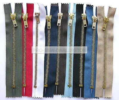5 x JEANS DENIM ZIPS ( CHOICE OF COLOURS & LENGTH )