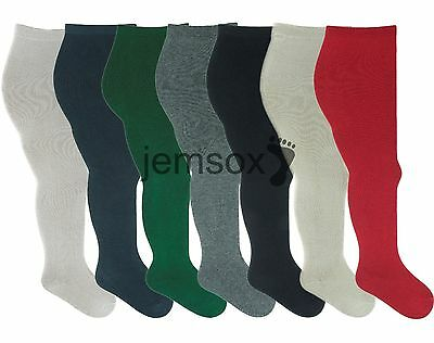 Girls Supersoft Cotton Tube Tights 2-3 3-4 5-6 7-8 9-10 Years - 4 Pairs